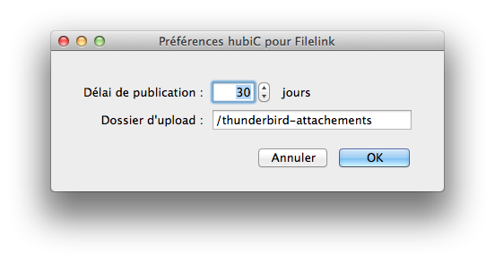 Use hubiC to send your attachments in Thunderbird!